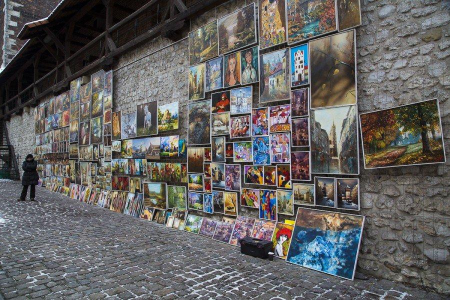Exposition des peintres de rue