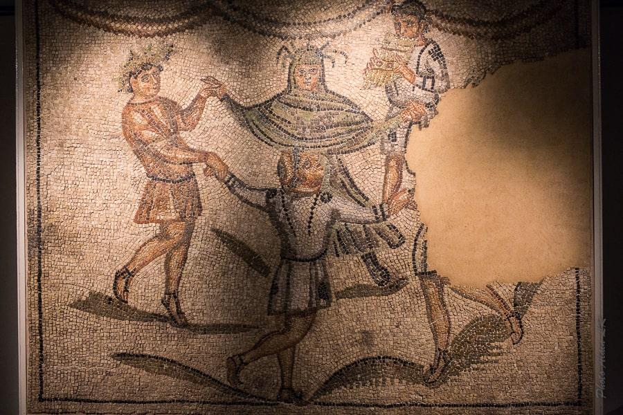 Mosaïque des 4 génies dans la maison des tapis de pierre à Ravenne