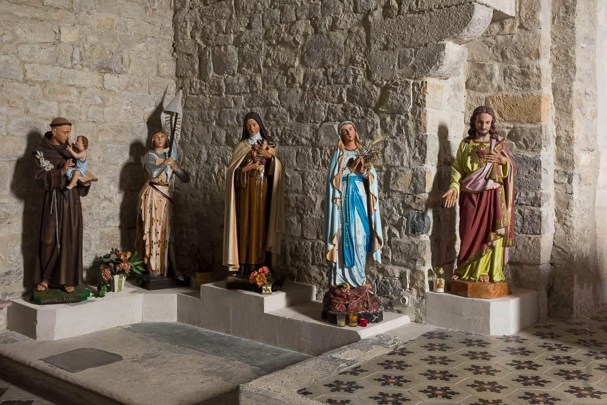 sculptures église de Saint Thomé